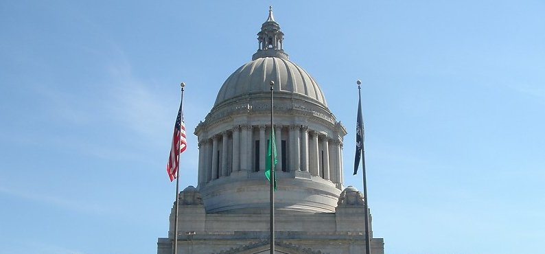 Legislative Building on the Washington State Capitol campus in Olympia, Washington. Photograph taken by Tradnor on May 28, 2005. https://commons.wikimedia.org/wiki/File:Washington_State_Capitol_Legislative_Building.jpg#filelinks