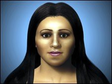 Facial reconstruction of Arsinoe, Cleopatra's half-sister, by researchers at Dundee University