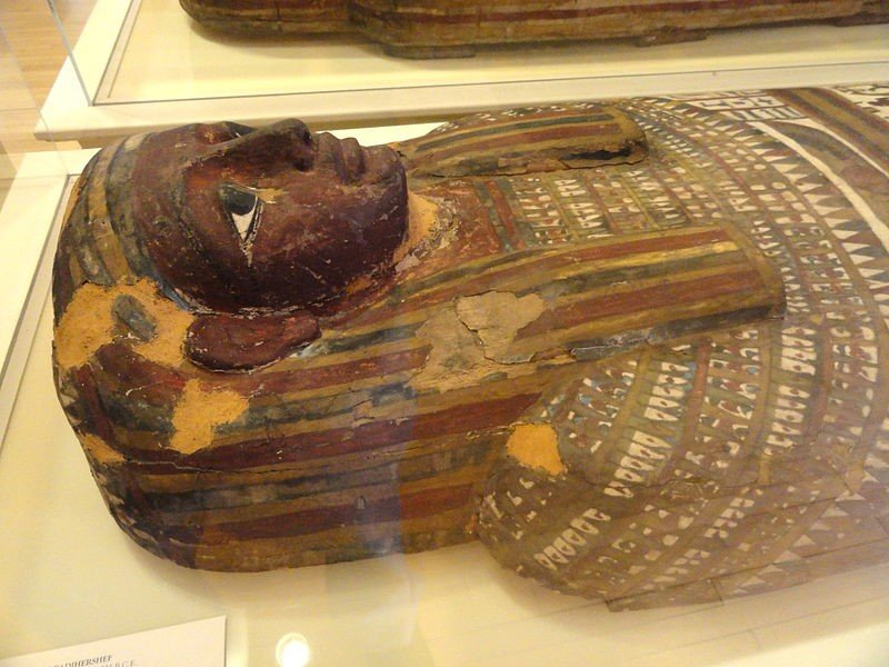 Outer Coffin of Padihershef, Late Period, 664-526 BC. On display at the George Walter Vincent Smith Art Museum.