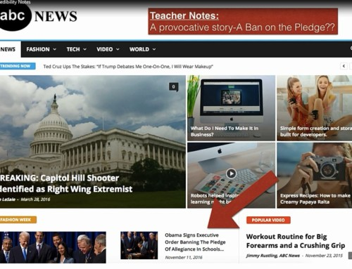 Using fake news to teach web credibility to middle school students