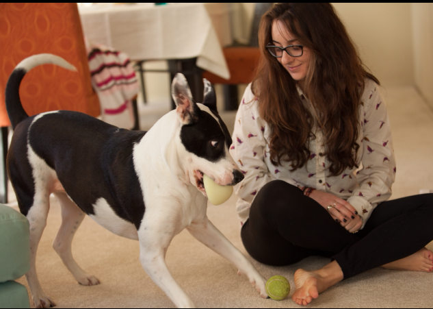 Brooklyn Levine with her dog Orlie in a recent Facebook profile photo.