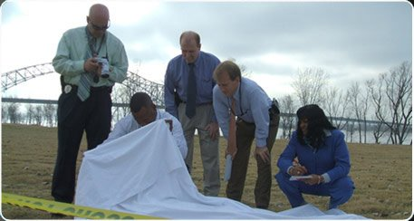 Screen shot from The First 48, an A&E reality TV show about homicide investigators.
