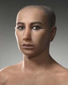 Facial reconstruction of King Tut by Elisabeth Daynes © National Geographic