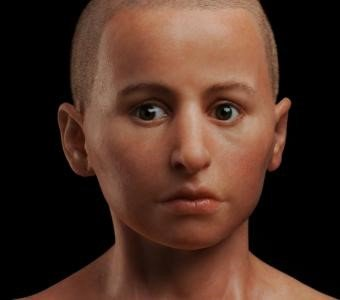 Facial reconstruction of an adolescent boy named Minidris by Elisabeth Daynes © The Field Museum