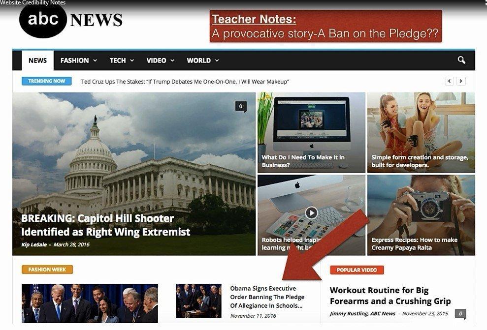 Fake News teachers notes