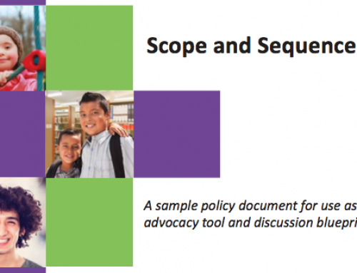 Announcing new advocacy tool: Scope and Sequence