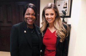 Miss Florida winner Michaela McLean with Florida State Senator Audrey Gibson